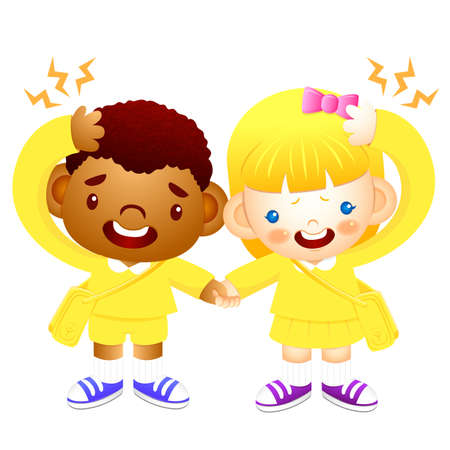 babygirl: Boy and girl is have a headache. Education and life Character Design series.