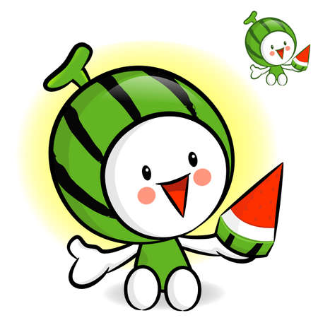 character design: Watermelon characters to promote fruit selling. Fruit Character Design Series.