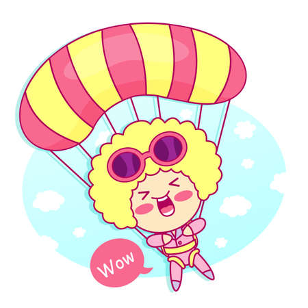 contentment: it girl mascot the event activity. Style Girl Character Design Series.