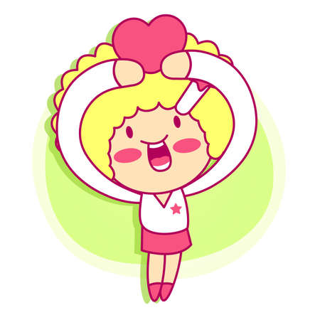 promotion girl: it girl mascot Sales promotion. Style Girl Character Design Series.