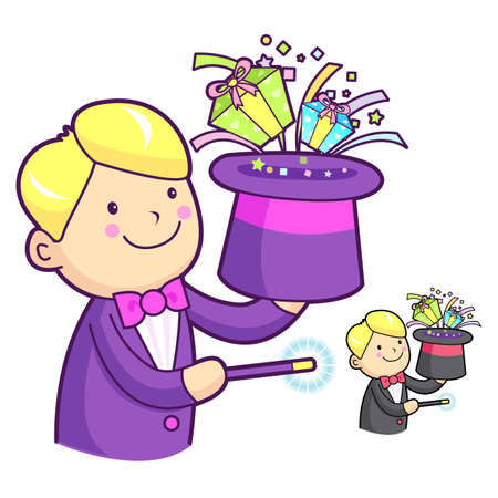 utilized: Magician hat magic to be utilized. Work and Job Character Design Series. Illustration