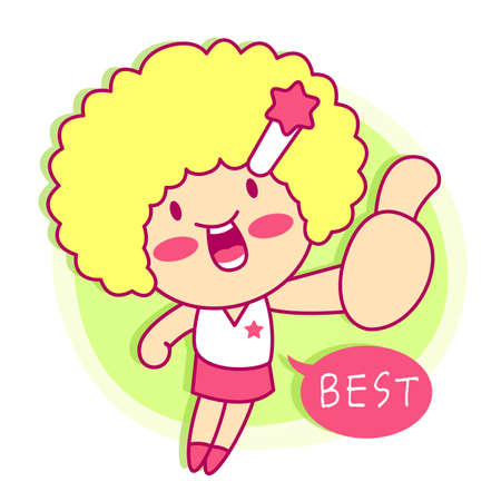 character design: it girl mascot Sales promotion. Style Girl Character Design Series.