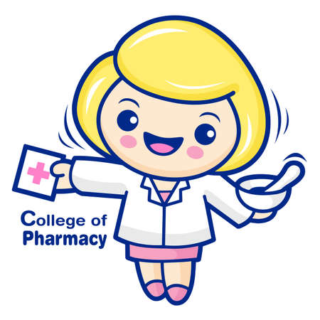 character design: College of Pharmacy mascot. Education and life Character Design series.