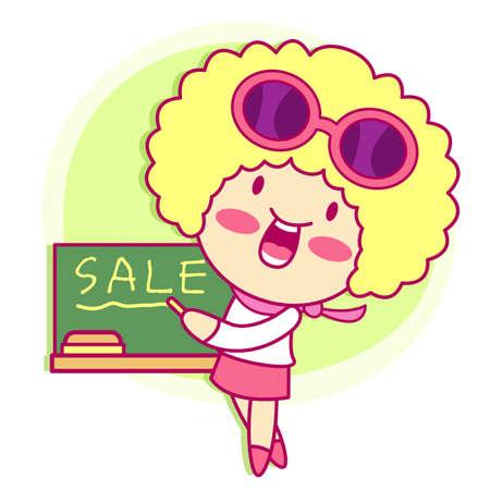 character design: Enjoyable shopping girl. Style Girl Character Design Series. Illustration