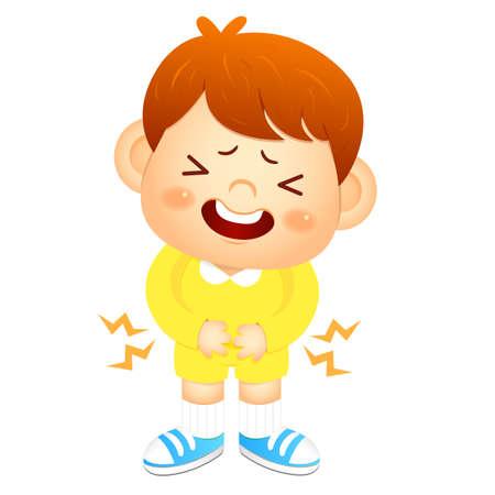 convulsión: Boy es tener un dolor de est�mago. Educaci�n y Car�cter vida serie Dise�o.