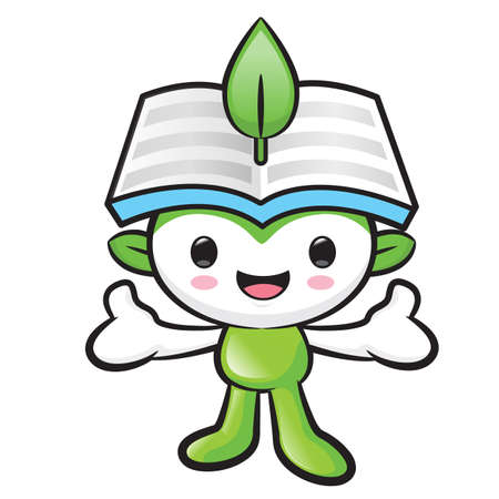 welcomed: Environmental mascot has been welcomed with both hands. Nature Fairy Character Design Series.