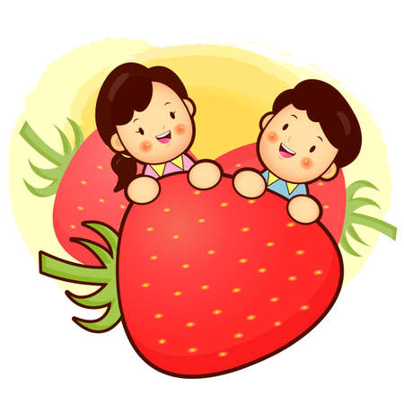 cuddle: Large Strawberry and Family Mascot. Home and Family Character Design Series.