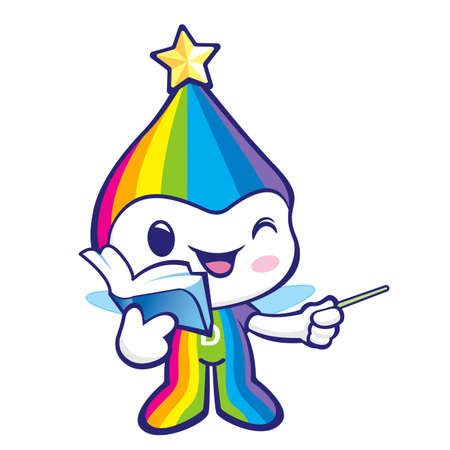 smart goals: Flexibility as possible a Rainbow Mascot. Dream of Fairy Character Design Series.