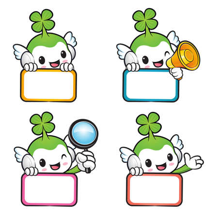 blissful: Diverse styles of Lucky Fairy Mascot Sets. Nature Character Design Series.