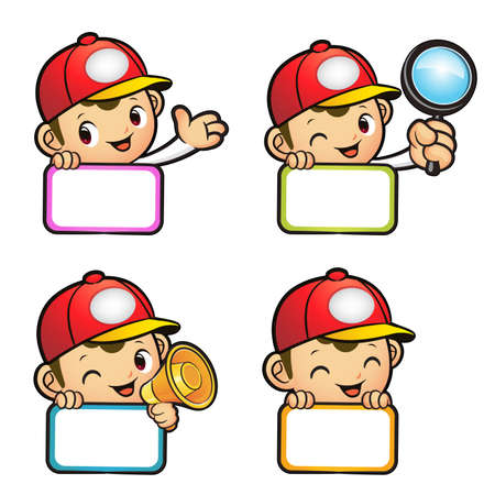 package deliverer: Various styles of Red Delivery Man Mascot Sets. Product and Distribution System Character Design Series.
