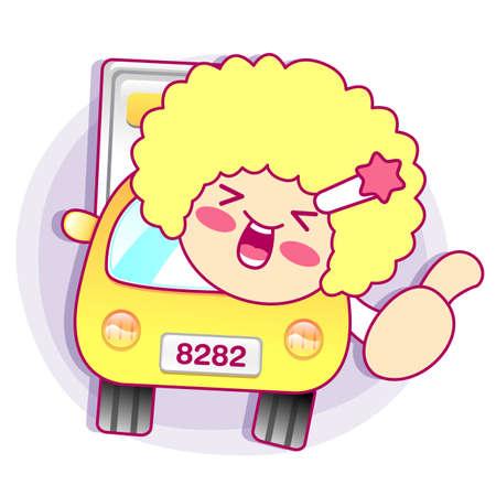 contentment: Enjoyable shopping girl. Style Girl Character Design Series. Illustration