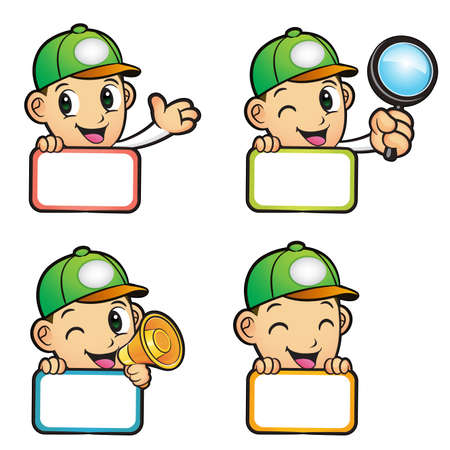package deliverer: Different styles of Green Delivery Man Mascot Sets. Product and Distribution System Character Design Series. Illustration