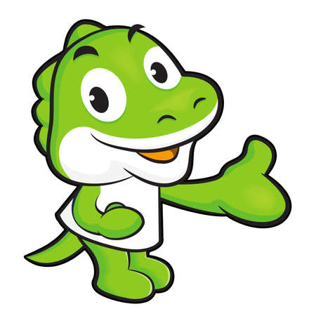 suggests: Dinosaur mascot Suggests the direction. Animal Character Design Series. Illustration