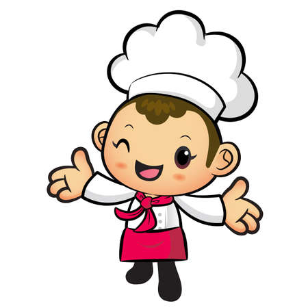 welcomed: The Chef mascot has been welcomed with both hands. Work and Job Character Design Series.