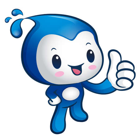 billow: Water Mascot the hand best gesture. Nature Character Design Series. Illustration