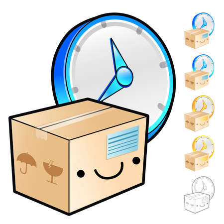 package deliverer: Gathering of goods scheduling Illustration. Product and Distribution System Design Series.