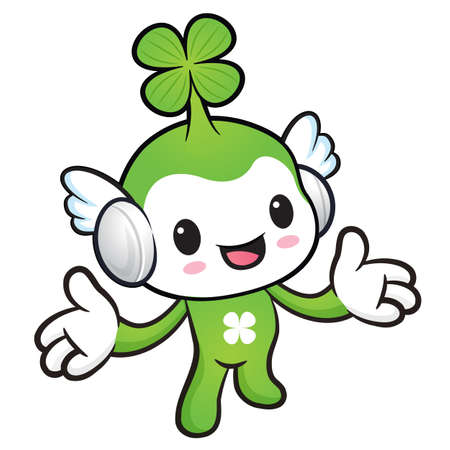 welcomed: The Lucky Fairy mascot has been welcomed with both hands. Nature Character Design Series.