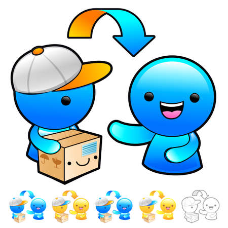 addressee: Goods addressee transfer Illustration. Product and Distribution System Design Series.
