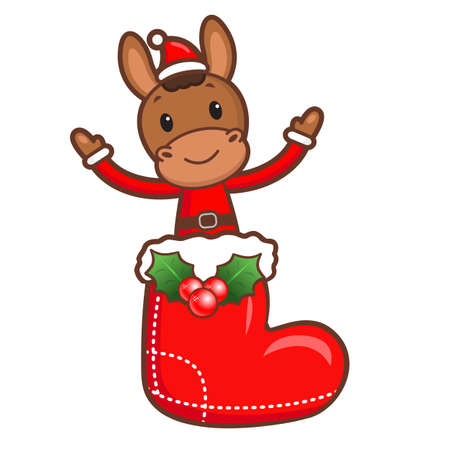 welcomed: The Horse mascot has been welcomed with both hands. Christmas Character Design Series.