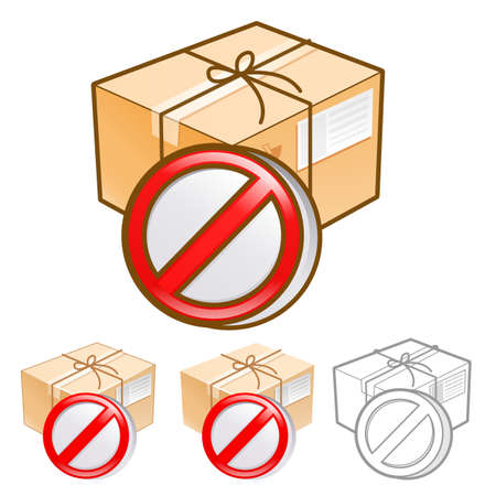 addressee: Goods addressee absence Illustration. Product and Distribution System Design Series.