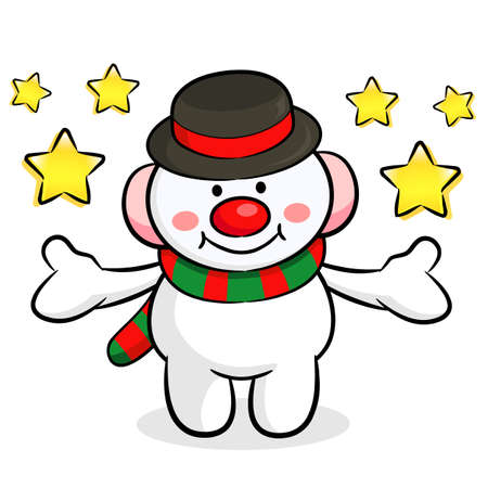 amemorial day: The Snowman mascot has been welcomed with both hands. Christmas Character Design Series.