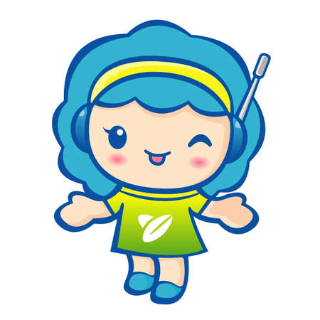 welcomed: Shopping Guide mascot has been welcomed with both hands. Work and Job Character Design Series. Illustration