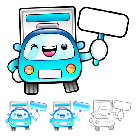 distribution board: The Delivery Truck mascot holding a board. Product and Distribution System Character Design Series.