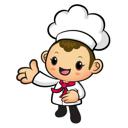 suggests: Chef mascot Suggests the direction. Work and Job Character Design Series.
