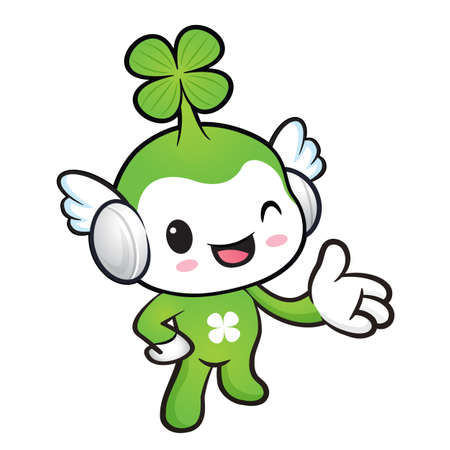blissful: Lucky Fairy mascot Suggests the direction. Nature Character Design Series.