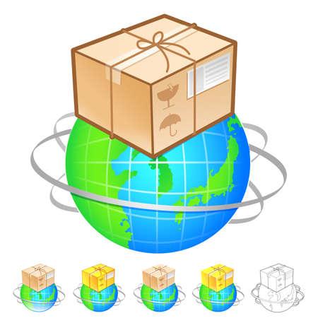 package deliverer: Exports of goods Illustration. Product and Distribution System Design Series.