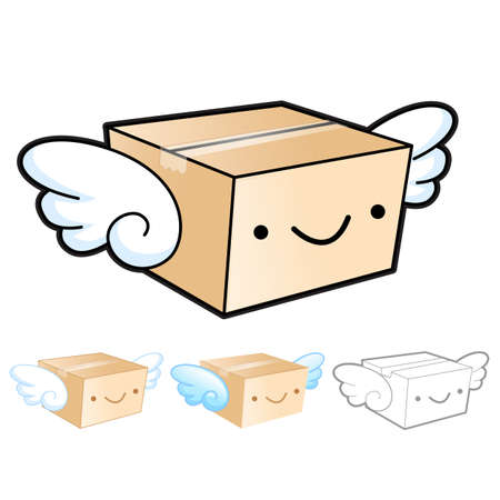 package deliverer: Flexibility as possible a sets of Delivery Box Mascot. Product and Distribution System Design Series.