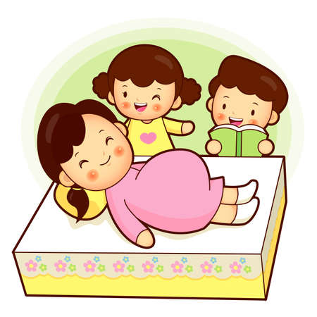 maternal: The maternal prenatal education sons and daughters. Home and Family Character Design Series. Illustration