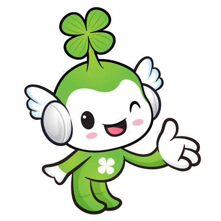 fourleafed: Lucky Fairy mascot Suggests the direction. Nature Character Design Series.