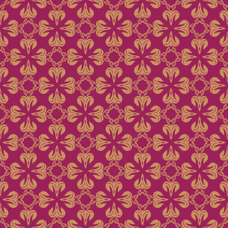 rouge: Rouge and Beige Colors Flower and Plant Pattern Design. Korean traditional Pattern Design Series. Illustration