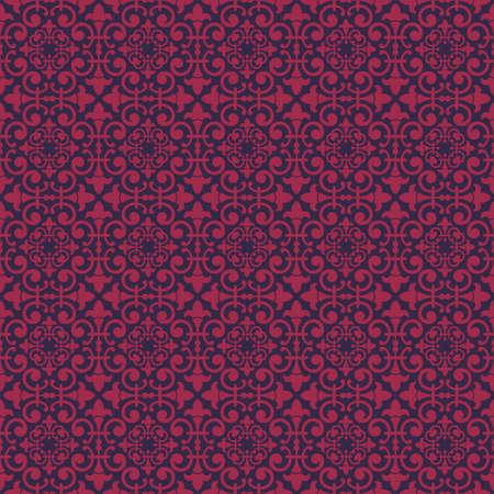artnouveau: Purple Colors Art Nouveau Style Plant Pattern design. Original Pattern and Symbol Series. Illustration