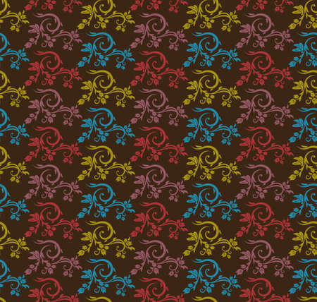 plantlife: Various Colors flower Pattern. Korean traditional Pattern Design Series. Illustration
