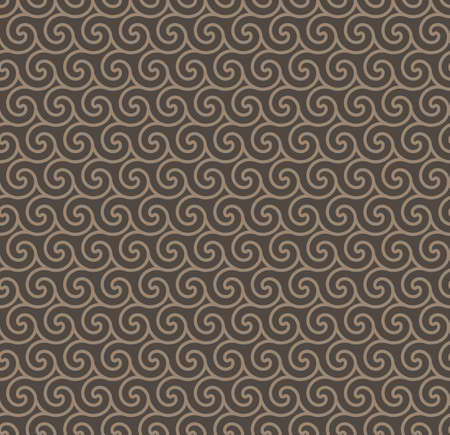 rosy: Rosy Brown Colors Wave Pattern. Korean traditional Pattern Design Series. Illustration