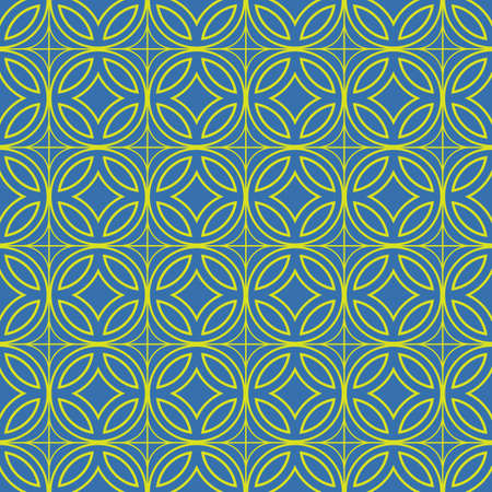 bluish: Bluish Green Colors Round grid Pattern. Korean traditional Pattern Design Series. Illustration