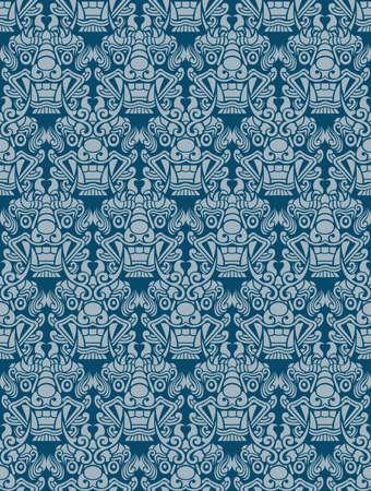 hobgoblin: Korea Goblin pattern Design. Korean traditional Pattern is a Pattern Design Series. Illustration