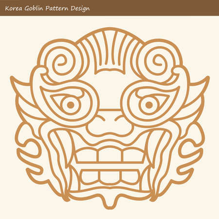 hobgoblin: Korea Goblin Pattern Design. Korean traditional Design Series.