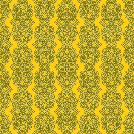 plantlife: Yellow Colors lotus Flower Pattern Design. Korean traditional Pattern Design Series.