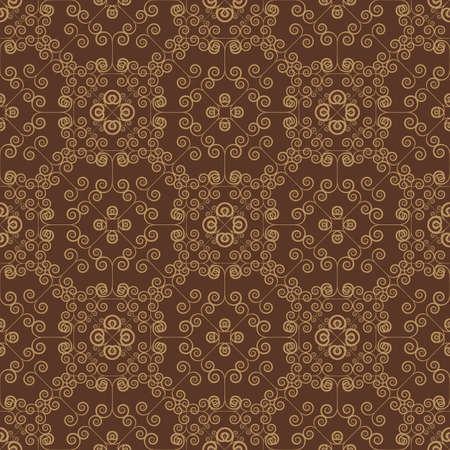 artnouveau: Brown Colors Art Nouveau Style Pattern design. Original Pattern and Symbol Series. Illustration