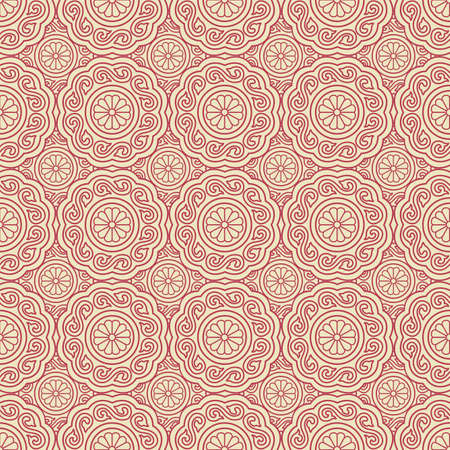 grid pattern: Pink Colors Round grid Pattern. Korean traditional Pattern Design Series.