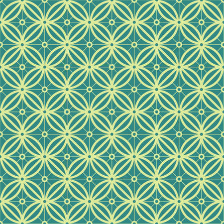 grid pattern: Green Colors Round grid Pattern. Korean traditional Pattern Design Series. Illustration