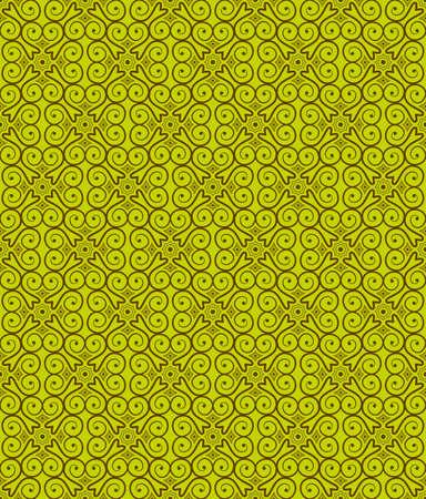 artnouveau: Green Colors Art Nouveau Style Pattern design. Original Pattern and Symbol Series.