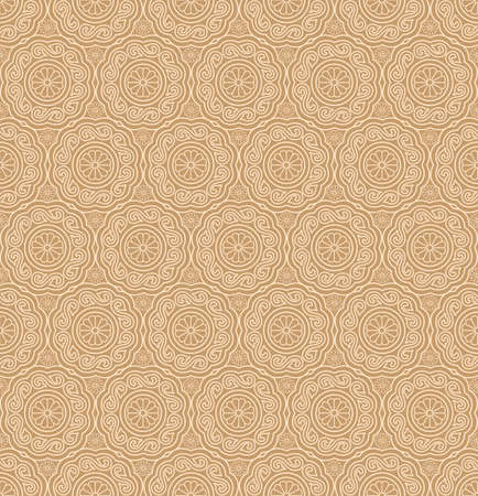 grid pattern: Beige Colors Round grid Pattern. Korean traditional Pattern Design Series. Illustration