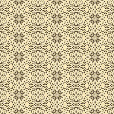 artnouveau: Beige Colors Art Nouveau Style Pattern design. Original Pattern and Symbol Series.