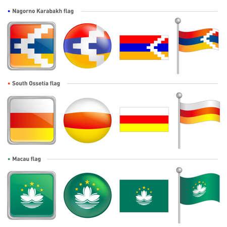 mideast: Nagorno Karabakh and South Ossetia, Macau national Icon