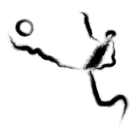 has: He has enjoyed a football game. Calligraphy Arts Design Series.
