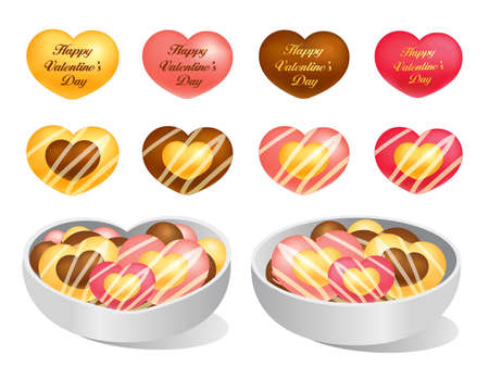 airiness: Love of cookies and chocolate. Valentine Icon Design Series. Illustration